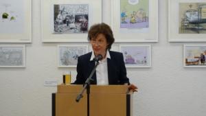 Dr. Franziska Polanski bei ihrer Rede bei der Vernissage Quelle: Sozialministerium Baden-Württemberg