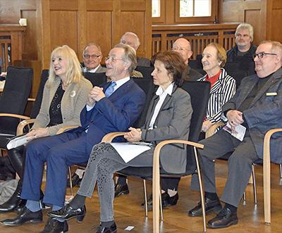 Festveranstaltung Vernissage Koblenz v.l.n.r. Kulturdezernentin Dr. Theis-Scholz, Bundesminister a.D. Franz-Müntefering, Dr. Franziska Polanski. Foto: Stadt Koblenz